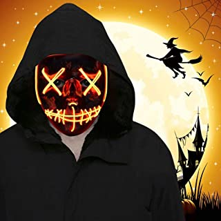 Halloween LED Mask Light up Mask Led Purge Mask Scary Mask Halloween Cosplay Costume Party