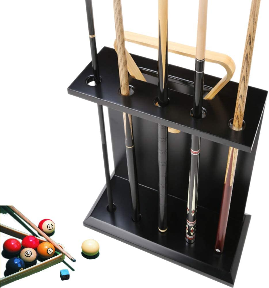 AILILI Ball Cue Stand -Pool Stick New arrival Billiard Holder NEW before selling Rack Sol Black