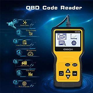 جهاز تشخيص السيارات OBD2 2019، أداة تشخيص عالمي للسيارة OBDII مع واجهة OBDII ذات 16 دبوس للقراءة، ومسح رمز الخطأ واختبار ا...
