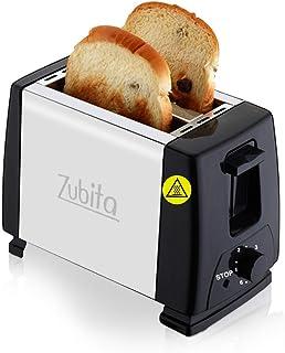 Zubita Grille-pain Inox, Grille Pain Vintage Toaster avec 2 Fentes, 6 Niveaux de Brunissage, Décongélation/Réchauffage/Ann...