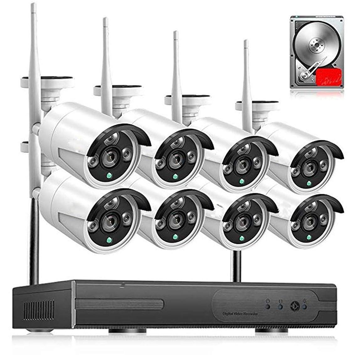 インポート自治的油方朝日スポーツ用品店 ワイヤレス監視機器セット4チャンネルレコーダーNVRネットワークカメラ720 P 1080 P HDナイトビジョン