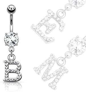 Best initial belly ring Reviews
