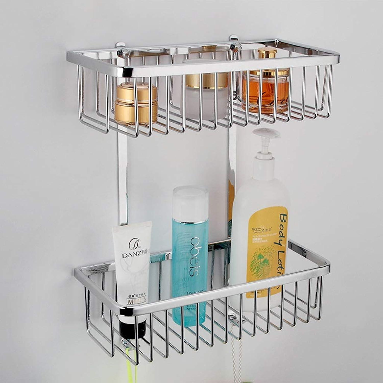Rack- Bathroom Accessories, Environmental Refined Copper Kitchen Racks, Rectangular Baskets, Corner Racks (Size   Double Layer)