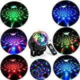 Bioaley Disco Ball Lights[360° Rotatable], LED Stage Light Mood Lamps, Car Magic Ball Lights - 7 RGB Color Changing[USB Powered], Christmas Party Lamp with Remote Control for Kids Birthday