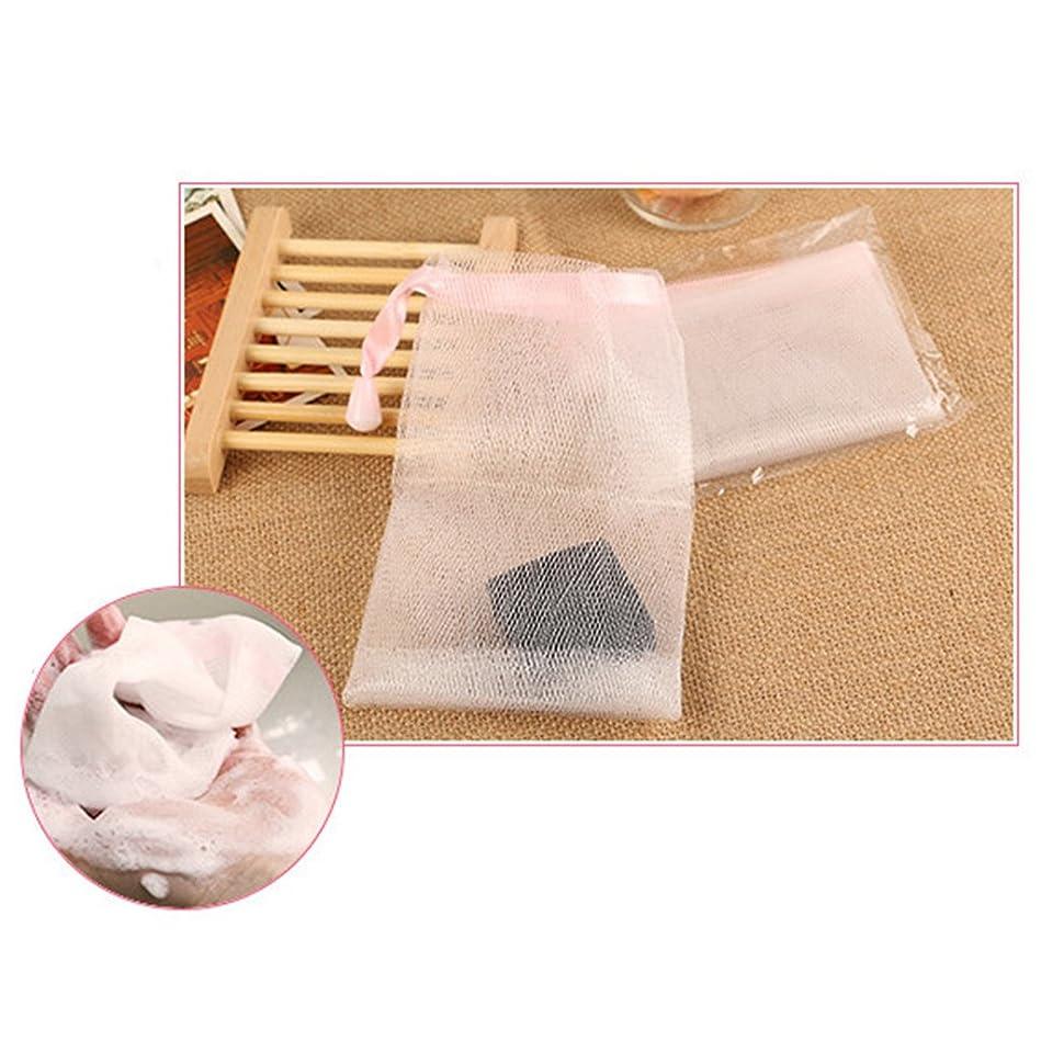 チキン提供された費用10個 メッシュ製 泡立てネット ホイップ 石鹸 ポーチ ホルダー 巾着バッグ 洗顔ネット 高品質