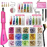 Hotfix Rhinestone Applicator Tool, Bedazzle Kit with Rhinestones, Bigger Gems Hot Fix Wand...