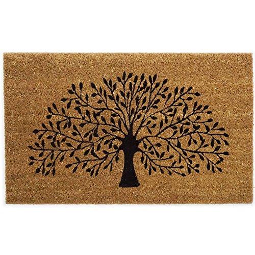 Black Ginger – Grand paillasson épais décoratif style typiquement anglais en fibre de coco, motif nature