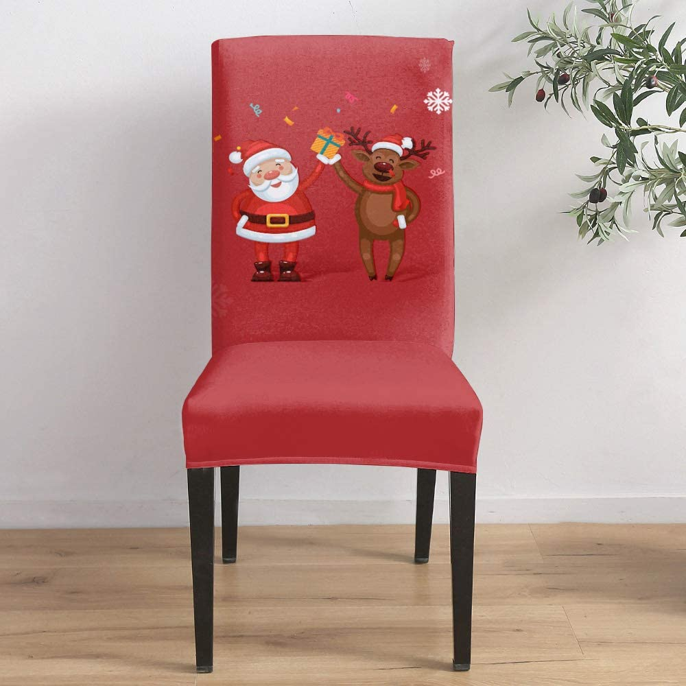 Dining Room Stretch Chair Cover Slipcover Claus De Japan's largest assortment Santa and famous Red