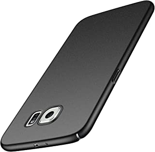 for Samsung Galaxy S6 G9200 Slim Case, ZUERCONG [Sand Series] Ultra-Thin Anti-Fingerprints Anti-Scratch Anti-Drop Shockproof Hard Plastic Protective Back Phone Cases Cover,Sand Black