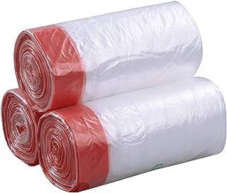 Fosly 40 litros Super Fuerte Bolsas de Basura de cordón, Transparente Bolsa de Basura Resistentes, 108 Bolsas