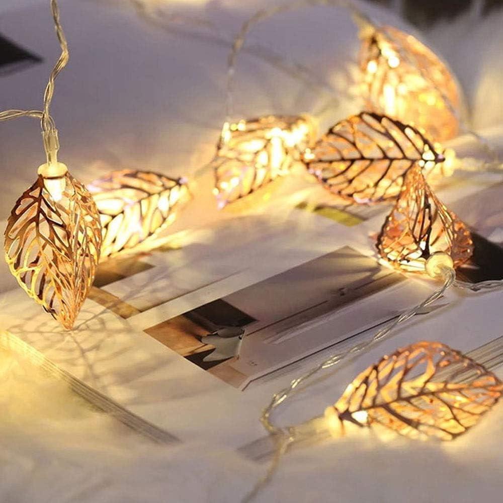 Popertr Led Eisen-Baum Blatt Leuchten Außeninnendekoration Lichterketten Mode kreative Handarbeit DIY Landschaft Dekoration Lichterketten String Feiertags-Party-Bar Restaurant Dekoration Schnur-Lichte 6m 40led