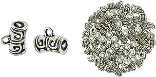 B Baosity - 100 perline divisorie in lega, ciondoli per gioielli in argento tibetano, risultati di gioielli