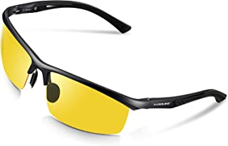 WOOLIKE Men's Sports Style Polarized Sunglasses for Cycling Running Fishing Driving Golf Unbreakable Al-Mg Frame Metal Glasses W819