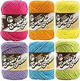 Lily Sugar n' Cream Solid Variety Assortment 6 Pack Bundle 100 Percent Cotton Medium 4 Worsted (Mult