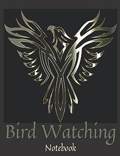 Silver Bird Watching Notebook: Bird Watcher Gifts - Paperback Journal to write in