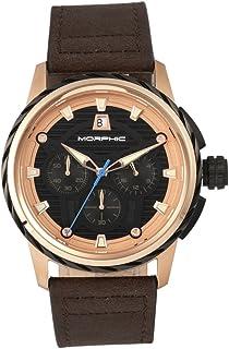 Morphic - M61 Series Reloj para hombre, negro/marrón oscuro, MPH6105