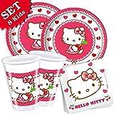 Hello Kitty–Set básico para 8niños, 36piezas)