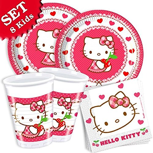 geburtstagsfee Hello Kitty Basis-Set für 8 Kinder, 36-tlg.