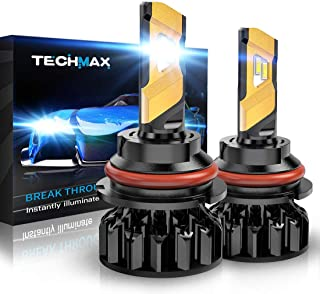 TECHMAX 9007 LED Headlight Bulb,360 Degree Adjustable Beam Angle Cree Chips 12000Lm 6500K Xenon White Extremely Bright HB5 Conversion Kit of 2