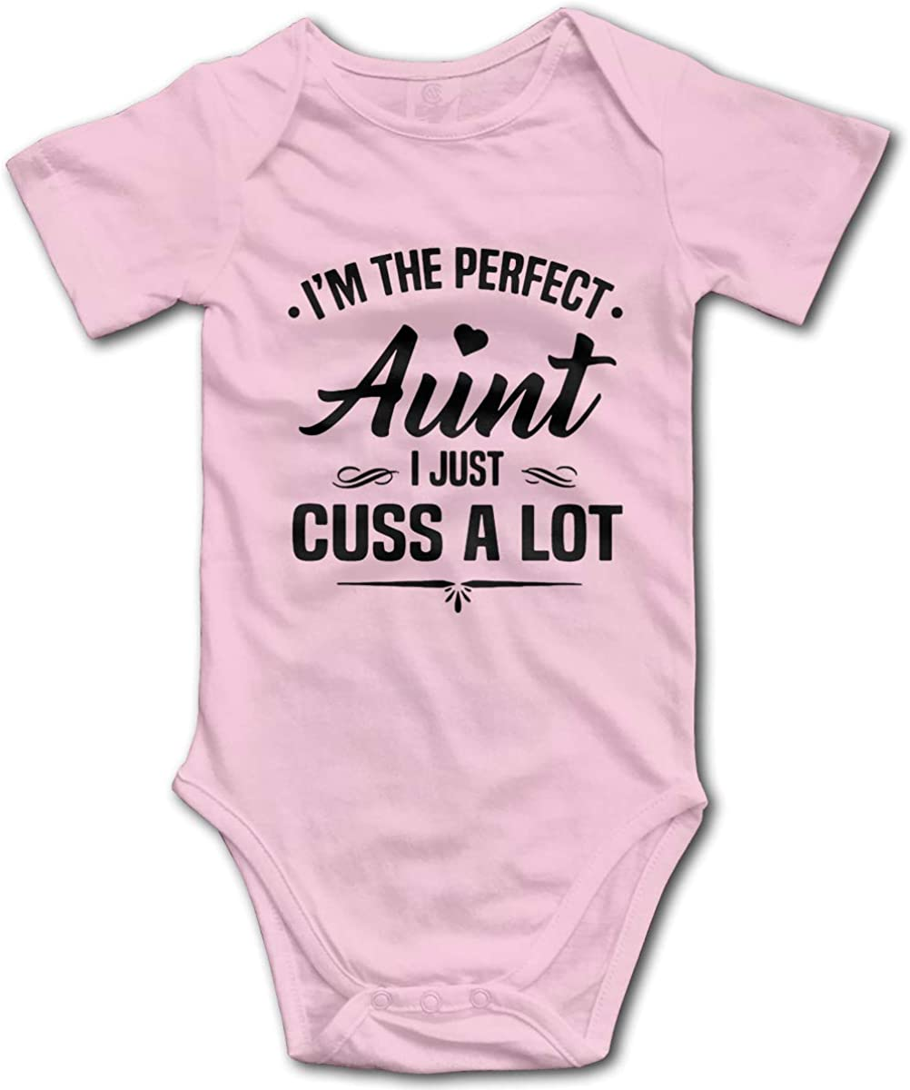 Funny Cute Infant Creeper My Aunt Says Im Perfect Just Like Her One-Piece Baby Bodysuit