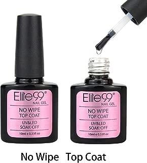 Elite99 Gel Nail Polish Top Coat Soak Off UV LED Nail Varnish Manicure Nail Art (No Wipe Top Coat 10ml)