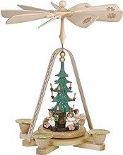 Richard Glässer Seiffen German Christmas Pyramid Angels, Height 28 cm / 11 inch, Natural, Original Erzgebirge by Richard G...