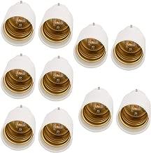 uxcell B22 to E26/27 Light Socket, Bulb Base Adapter Converter, Commutator 10Pcs