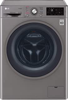 LG 8Kg Washer & 5Kg Dryer, 1400 RPM Washer & Dryer, Stone Silver - F4J6TMP8S
