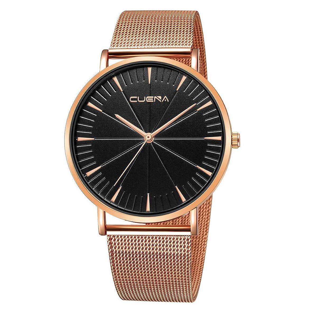 順応性未就学コンパクトRencaifeinimo2019年最新 紳士用 超薄型 男女兼用 多機能 腕時計 人気 平日 ファッション メンズファッションミリタリーステンレススチールアナログスポーツクォーツビジネス腕時計