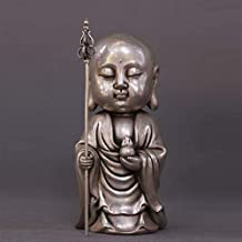 PPCP Tibet Tibetan Buddhism Temple Silver Jizo Ksitigarbha Bodhisattva Buddha Statue