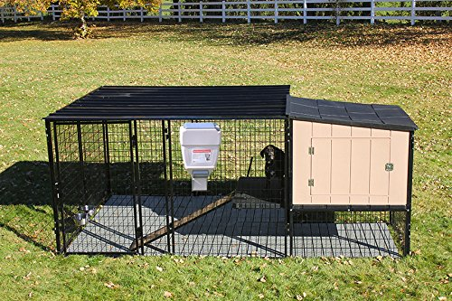 4' X 4' K9 Kennel Castle House With 8' X 8' Run with Metal Cover-Ultimate