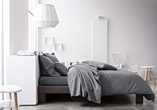 Today 201213 Drap Housse Coton, Gris Anthracite, 200 x 160 cm