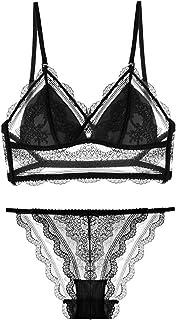 مجموعة ملابس داخلية مثيرة النسائية Bralette Unpopded اللاسلكي العميق الخامس الصدرية واللباس الداخلي للنساء ملابس داخلية ري...
