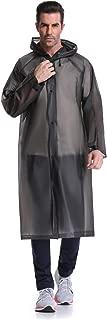"UNPOPULAR Adult Reusable Rain Poncho, EVA Portable Raincoat with Hoods Sleeves, Size 43.3"" Unisex Waterproof Rainwear"