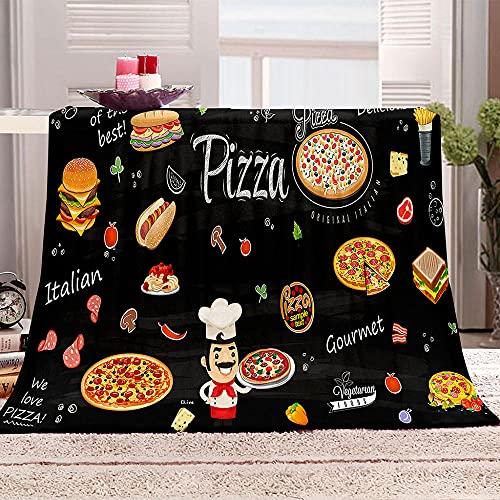 Ejiawj Mantas para Sofa Baratas Cartel de Pastel de Pizza 200x200 cm...