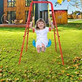 Shamonaty Swing Sets for Backyard,Children's Toys Swing Basketball Combination Swing Set Indoor and Outdoor Play