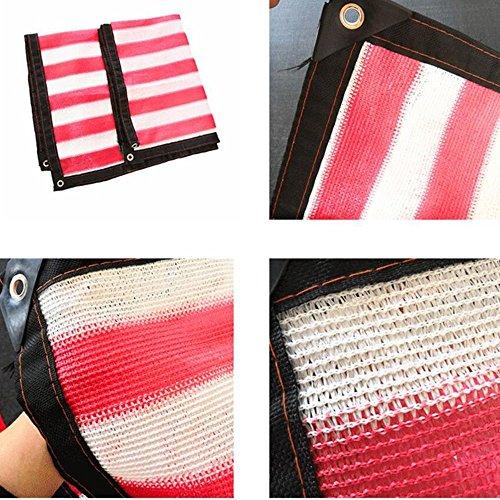YS Paño de Sombra de Bloqueador Solar Multiusos Al Aire Libre Rectángulo Rojo de Sol Cubierta de Pérgola Al Aire Libre Tela de Bloque Uv,Rojo,89M