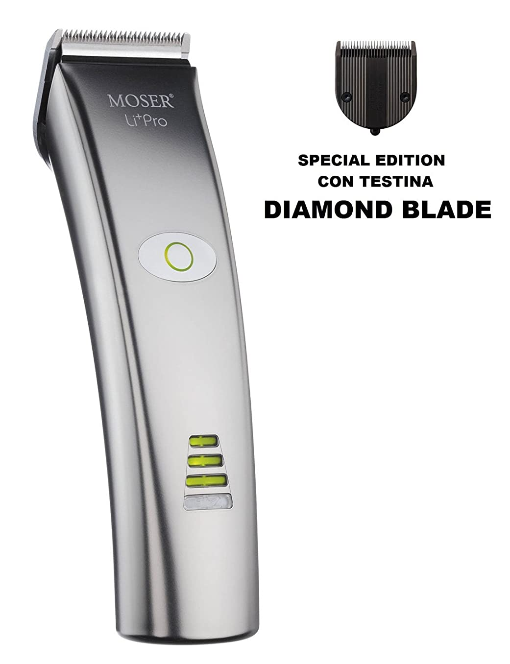 Moser 1884 LI+PRO Professional Cordless Hair Clipper Li-lon **Diamond Blade**
