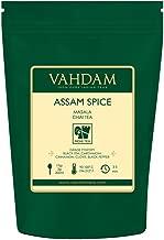 VAHDAM, Assam Spiced Masala Chai Tea (50 Cups)   100% NATURAL SPICES   Assam Tea, Cardamom, Cinnamon, Clove, Black Pepper   Spiced Chai Tea Loose Leaf   Brew Hot Tea, Iced Tea or Chai Latte   3.53oz