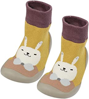 Baby Girl Boy Toddler Anti-Slip Warm Slippers Socks Cotton Shoes for Winter Home