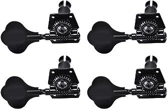 Drfeify 4R Bajo Clavijas de Afinación Cabezales de Máquina de Aleación de Zinc Sintonizadores Negro