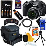 Nikon COOLPIX B500 16MP Wi-Fi, NFC Digital Camera w/40x Zoom & HD Video (Black) + 4 AA Batteries with Charger + 9pc 16GB Accessory Kit w/HeroFiber Cleaning Cloth, Compatible with Nikon B500