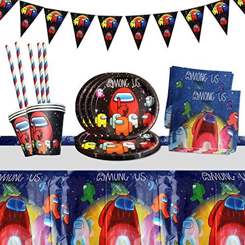 Yisscen Juego de vajilla para fiestas, decoración de cumpleaños para niños, fiestas...