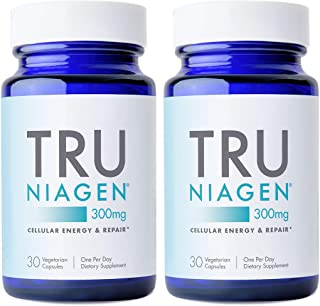 TRU NIAGEN NAD+ Booster for Cellular Repair & Energy Metabolism (Nicotinamide Riboside) - 300mg Vegetarian Capsules, 300mg...