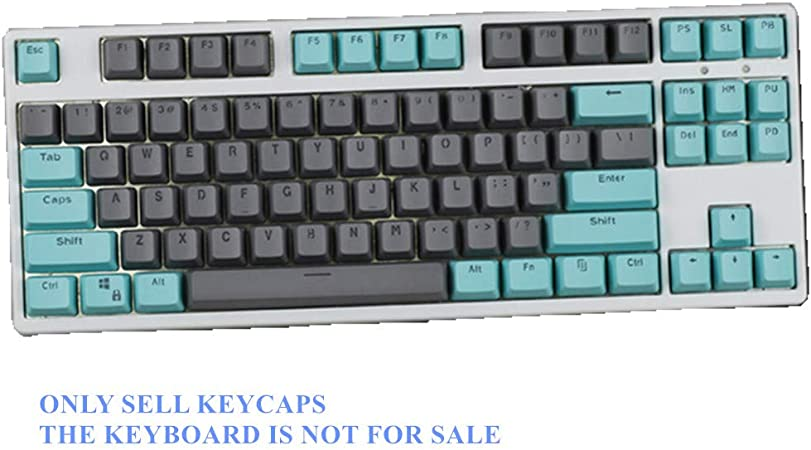Sunzit Keycaps, 104/87 PBT Doble Tecla Color Keycap Teclado ...
