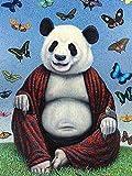 HRKDHBS Pintura Al Óleo De Bricolaje Animal Panda Kit De Pintura Digital DIY Niños Principiantes Artes Manualidades Decoración 40X50Cm (Sin Marco)