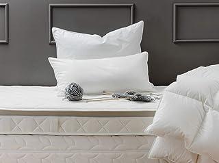 La Zudecke Oreiller Ferme en Plumes et Duvet d'oie de Hongrie Coton Blanc 50 cm x 75 cm