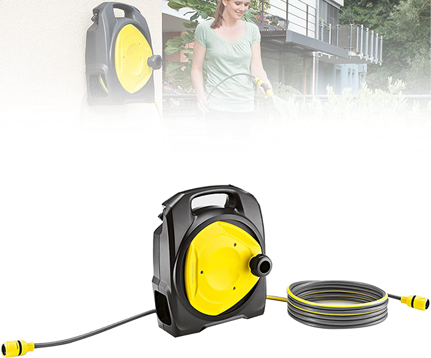 EnweMahi Wall-Mounted Reel Automatic Water NEW before selling ☆ Hose Collection 2021new shipping free shipping