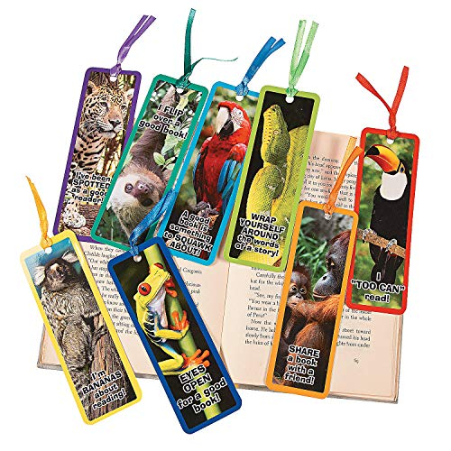 Fun Express Laminated Realistic Rainforest Animal Bo - 48 Pieces - Educational and Learning Activities for Kids