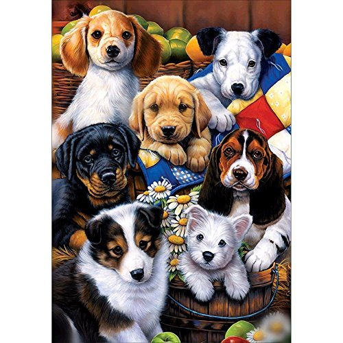 Taloyer DIY 5D Diamond Rhinestone Cute Animal Family Painting Cross Stitch Kit Home Decor Crafts